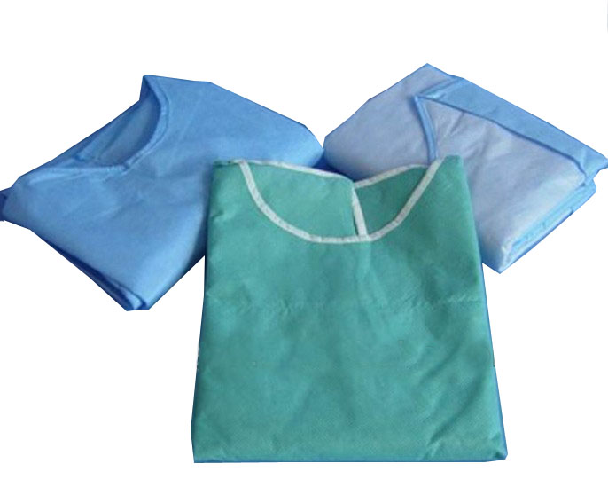 Disposable Folding Surgical Gown With Long or Short Sleeve