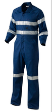 Navy Blue High Visilibity reflective safety anti fire coverall garments