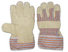 1285 pig grain pasted cuff working gloves