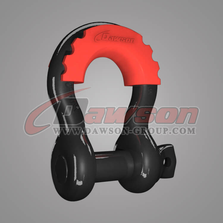 US Type Drop Forged Alloy Bow Shackle with PU Protection for Recovery Strap - China Supplier, Manufacturer