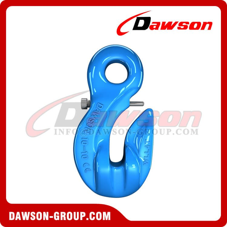 G100 Special Eye Grab Hook with Safety Pin, Forged Steel Eye Grab Hook for Chain Slings - China Manufacturer
