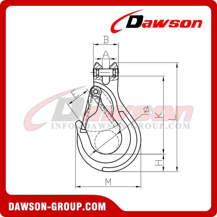 DS1025 G100 Clevis Sling Hook with Cast Latch - China Manufacturer Supplier