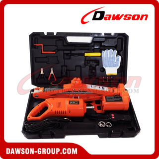 DC 12V 5T 45CM Electric Scissor Jack & Electric Wrench Suit