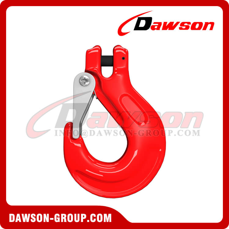 Grade 80 Clevis Sling Hook with Cast Latch for Chain Slings, G80 Clevis Hook - Dawson Group Ltd. - China Factory