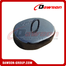 Hot Sale Oval Cast Iron Sinker for Offshore Platform