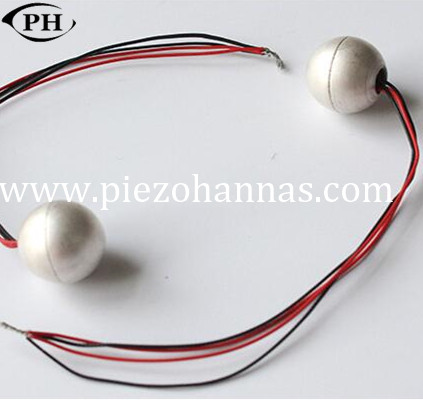 high sensitivity piezo hemispheres with P5 material for sonar