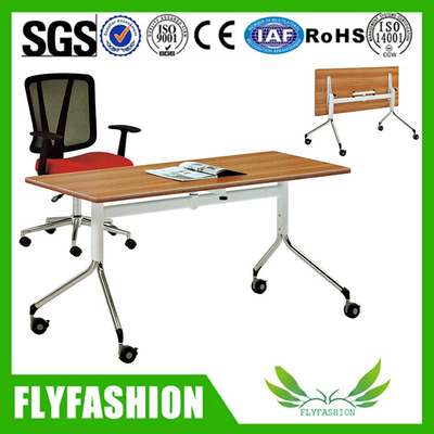 Commercial wood office desk movable foldable training table(CT-62)