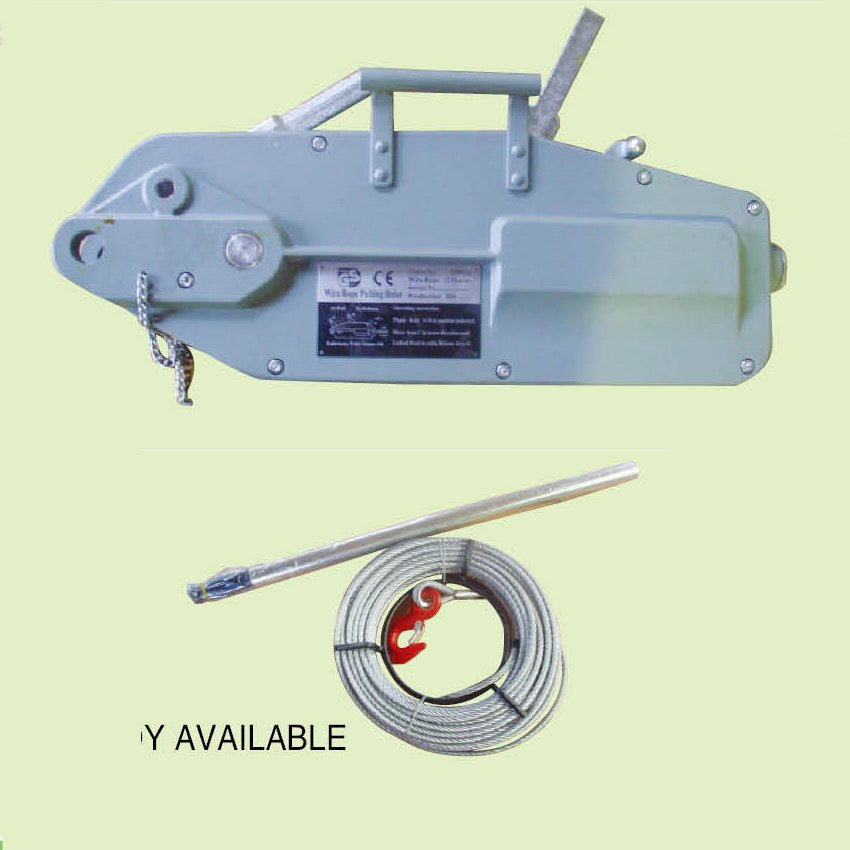 WIRE ROPE PULLING HOIST, ALUMINUM BODY, STEEL BODY AVAILABLE