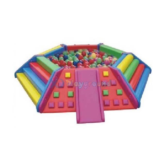 Small Toddler Soft Play Ball Pit and Slide