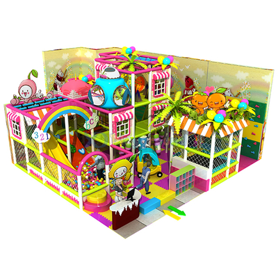 Candy Themed Small Indoor Playground Structure with Trampoline