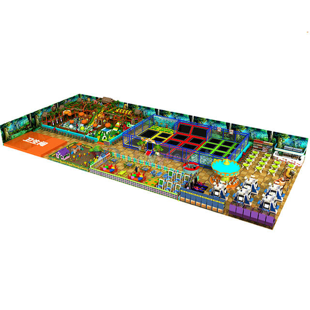 Large Amusement Park Commercial Indoor Playground with Trampoline Park