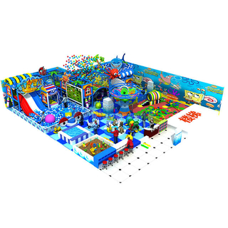 Ocean Theme Kids Used Indoor Playground Equipment with Ball Pit