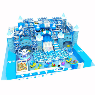 Ice & Snow Themed Indoor Playground Kids Soft Play Structure Zone