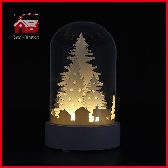 Glass Dome with Base Glass Made LED Decoration Glass Balloon Decoration Glass Giftware