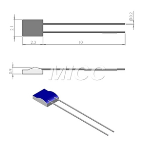 RTD thin film 2.1*2.3mm