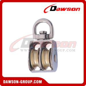 Stainless Steel Pulley Double Sheave Swivel Eye