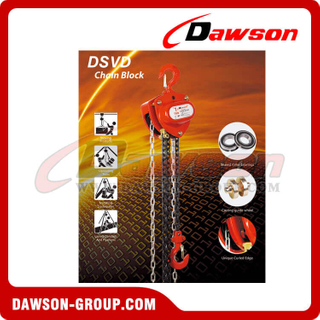 DSVD 0.5T - 10T Chain Block, Chain Hoist for Construction Site