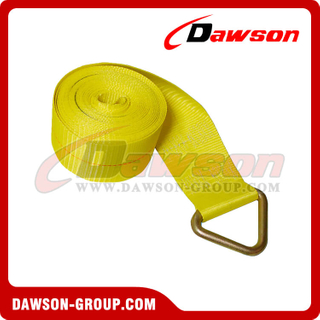 4 inch 30 feet Winch Strap with Delta Ring
