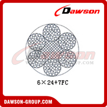 Steel Wire Rope Construction(6×24+7FC)