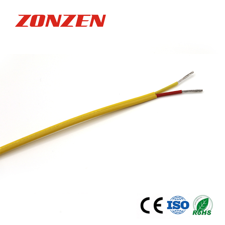 FEP insulated thermocouple extension wire--Single pair, flat