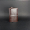 Wine Box Manufacturer Brown PU leather wine bottle candle holder