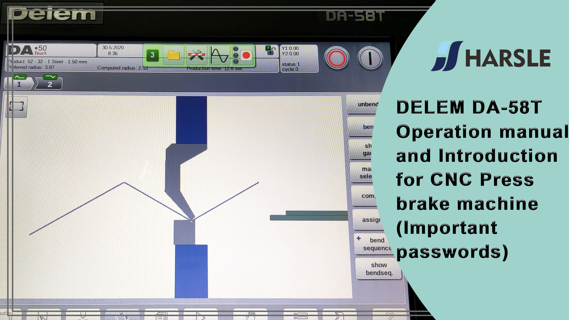 DELEM DA-58T Operation manual and Introduction for CNC Press brake machine (Important passwords)