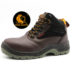 Anti Slip Brown Leather Chile Market Industrial Safety Shoes Steel Toe Cap
