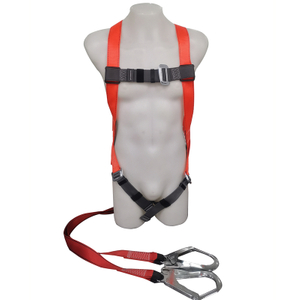 CE EN 361 Anti Falling Full Body Safety Harness Shock Absorber Lanyard Safety Belt