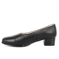 Durable female black office shoes 1107