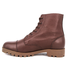 MILFORCE 6107 red brown army combat leather boots
