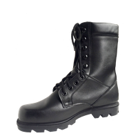 military combat boots Side zipper goodyear welt