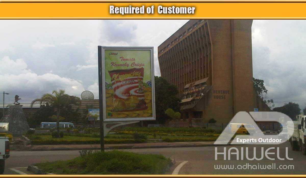 Customer-required-flag-signage-billboard