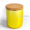 Europe vogue electroplated gold glass candle tumbler jar