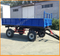 Farm tractor trailer double axle trailer hydraulic tipper trailer