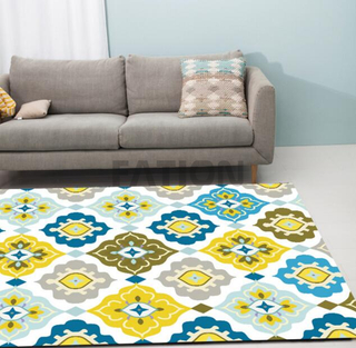 Polyester Print Home Area Rug Inexpensive Floor Carpet