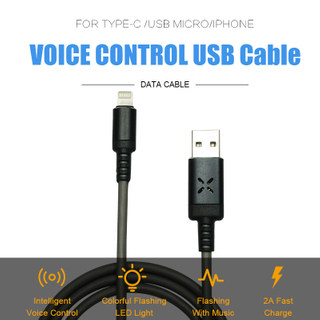 Intelligent Voice Control USB Data Lightning Cable