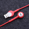 90 Degree Micro USB Cable with Smiley Face Design