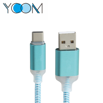 USB To Type C LED Charging Cable 2.0
