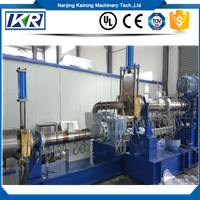 PE PP Recycling Two Stage Single Screw Extruder Extruder Pellets Plastic Compound Making Machine