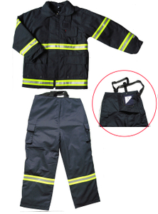 Firemen fire fighting suit