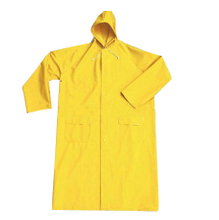Yellow pvc polyester pvc rain coat for work men