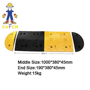 widely used rubber speed hump