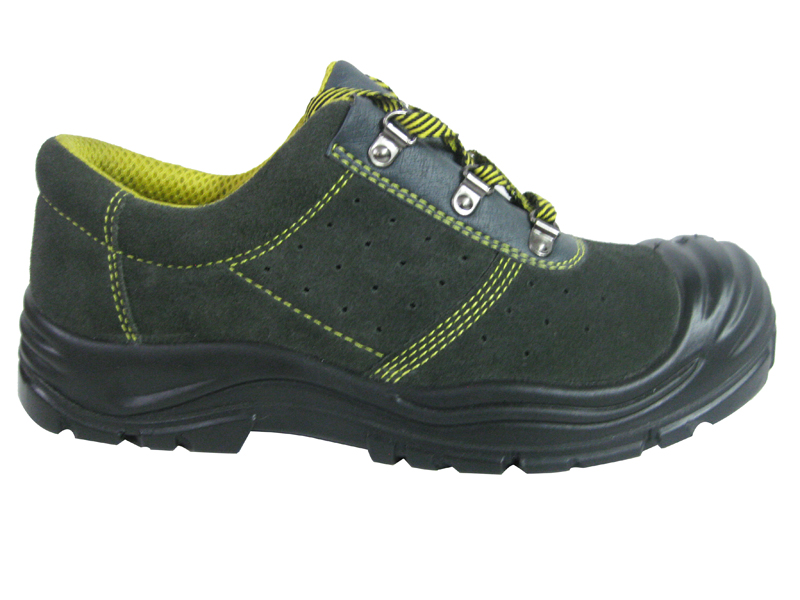 Suede leather industrial work safety shoes