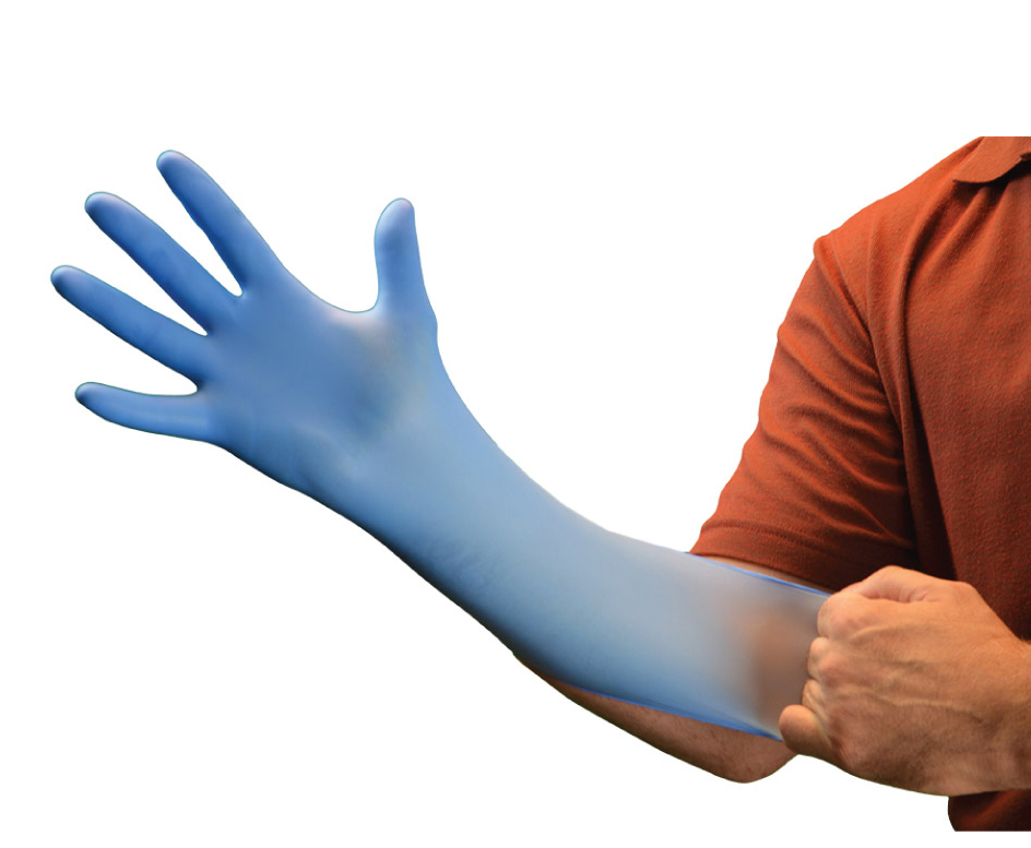 Disposable nitrile examination gloves powder free