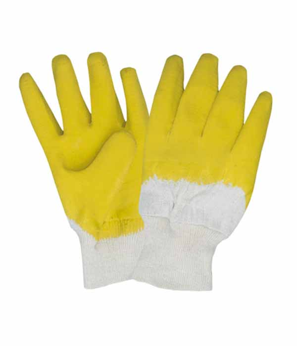 3201 yellow latex working safety gloves