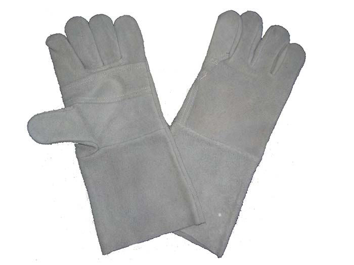 1303 cow split welder gloves reinforced palm