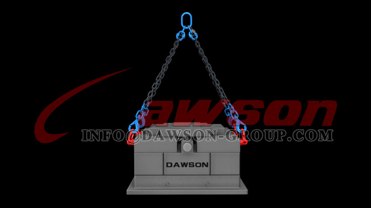 Application of Dawson Grade 100 Forged Special Swivel Self-locking Hook with Grip Latch for Chain Slings - China Factory