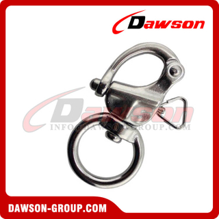 Stainless steel Swivel snap shackle(round ring)