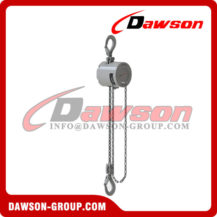 250KG Mini Aluminum Alloy Chain Hoist, 0.25 Ton Chain Block for Construction Site Lifter