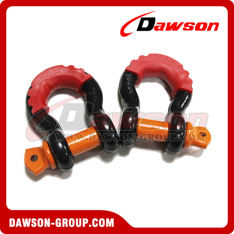 Alloy Steel Bow Shackle with PU Protection for Towing - China Manufacturer Supplier